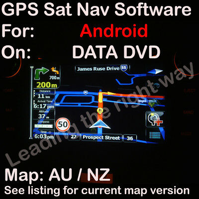 iGO For ANDROID GPS SOFTWARE MAP for Australia / NZ maps 2017 Q3 on 8GB Micro-sd