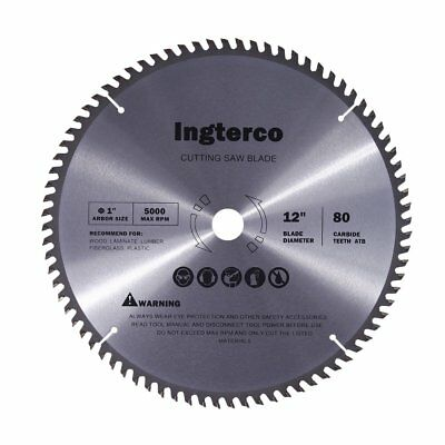 Miter Saw Blades 12 Inch 80 Tooth ATB Thin Kerf General Purpose Woodworking Tool