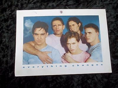 Take That 90s Everything Changes Release Postcard Flyer