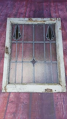 Antique Vintage Old Stained Leaded Window Panel Reclaimed Salvaged Architectural
