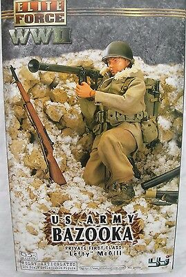 "BBI Elite Force collectable action figure 1/6 scale 12"" WW2 US Army Bazooka PFC"