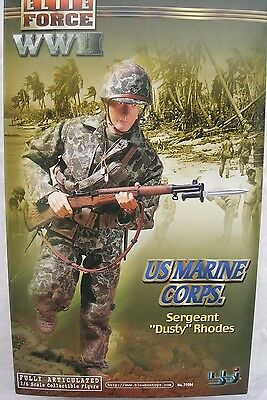 "BBI Elite Force collectable action figure 1/6 scale 12"" WW2 US Marine Corp Dusty"
