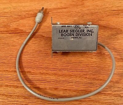 Bogen WMT-1 Transformer With Balanced Lo Z Input/Unbalanced Hi Z Output VG++