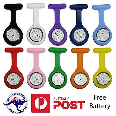 Silicone Nurse Pendant Pocket Watch - Tunic Fob Brooch - Nursing Nurses