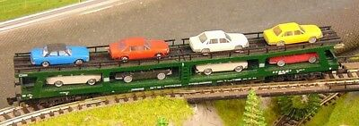 Fleischmann 8285 Db Car Transporter With 8 Audi Cars N