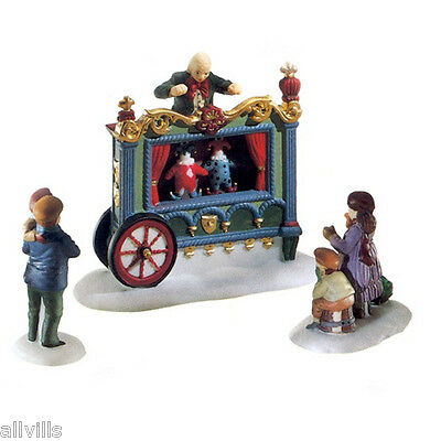 The Old Puppeteer #58025 Dept 56 Dickens Village Accessory Set Of 3