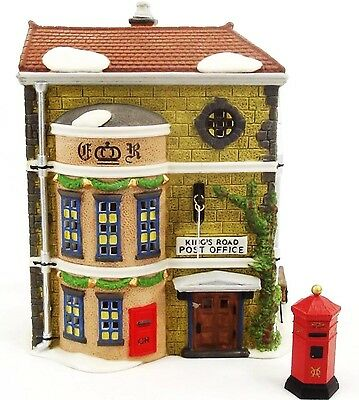 "King""s Road Post Office #58017 And Post Box   Dickens Village Dept 56"