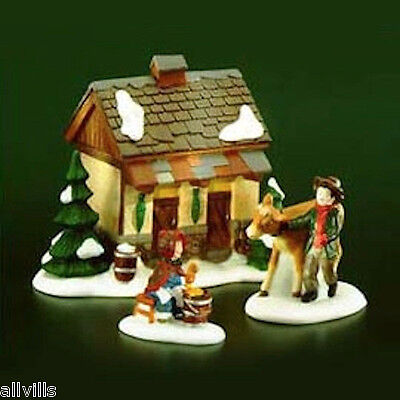 TENDING THE NEW CALVES 58395 DEPT 56 RETIRED DICKENS VILLAGE a great farm scene
