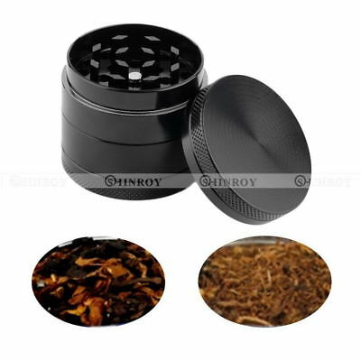 4 Layer Zinc Alloy Tobacco Grinder Hand Crank Herb Smoke Mill Spice Crusher 40mm