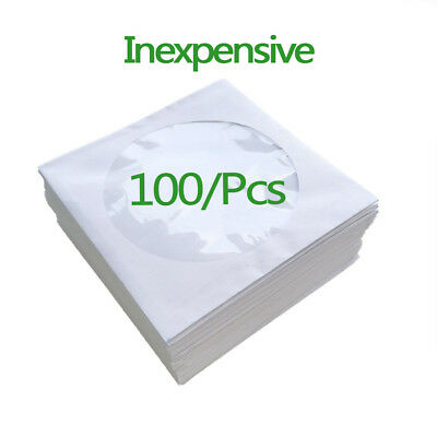 100 x High Quality CD DVD Clear Plastic Sleeves Wallet CoverCase