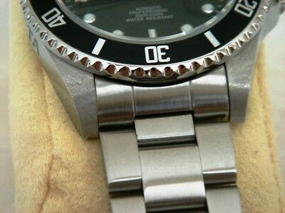 22mm Curved End OYSTER Solid Stainless Steel bracelet Fit Seiko 7S26-0040 SKX031