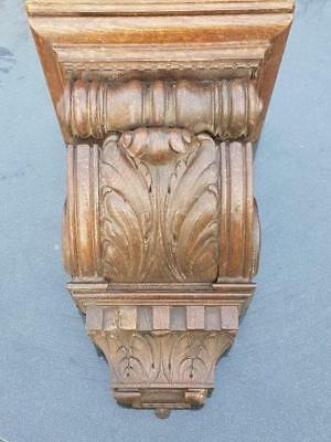 Antique Large French oak wood corbel/wall sconce , Acanthus Leaf Architectural