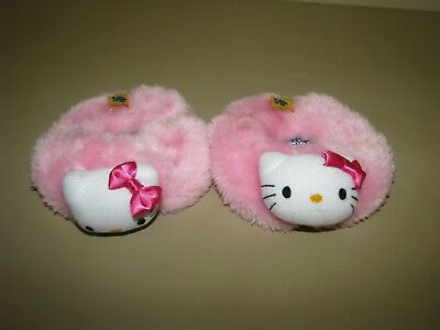 Build A Bear pink Hello Kitty Slippers fuzzy Shoes