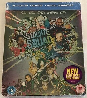 Suicide Squad 3D Steelbook - UK HMV Exclusive Limited Edition Blu-Ray