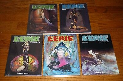Lot of 5 Eerie Archives Volumes 2,3,4,5,6 SEALED, Warren, Dark Horse, hardcovers