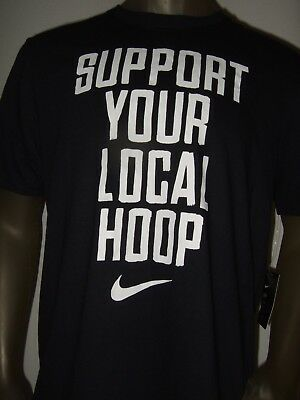 d993d12a3030 Men s Lg Nike Support Your Local Hoop Dri-fit Athletic Cut Basketball Tee  Shirt