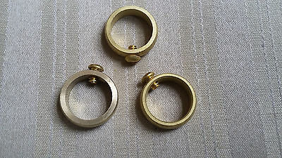 """Weathervane Brass Retainer Ring with Set Screw for 3/4"""" Rods - Lot of 3"""