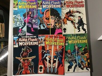 Kitty Pryde and Wolverine 8.0VF Complete Set 1984 1 2 3 4 5 6 Full Run Lot X-Men