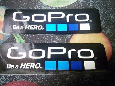 "set of 2 GOPRO stickers ""be a hero"" high quality 6inch size GO PRO"