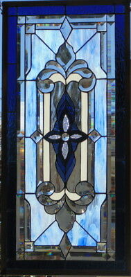 Stained Glass window hanging 34 X 16 3/4