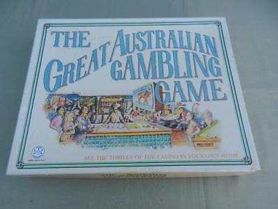THE GEAT AUSTRALIAN GAMBLING Vintage BOARD GAME Crown & Andrews 1987 - Rare