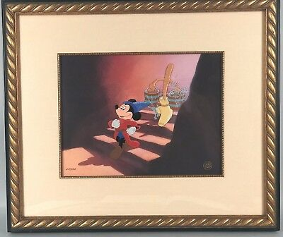 Fantasia Animation Cel - Follow the Leader - Mickey Walt Disney LE 217/350 COA