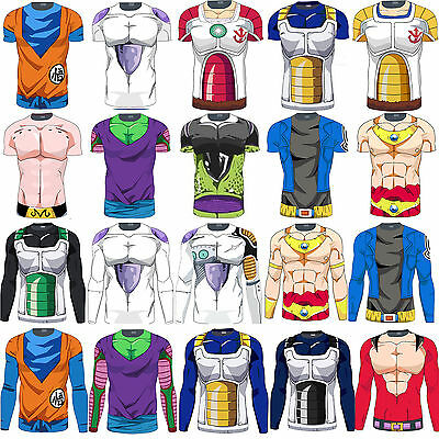Dragon Ball Z Compression Base Layer T-shirt Costume Anime Training Jersey Fancy
