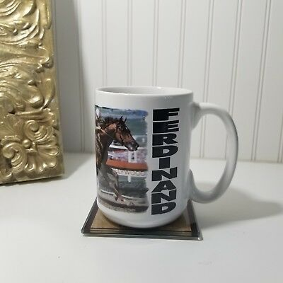 1987 Hollywood Gold Cup Ferdinand Coffee Mug Horse Race Jumbo Tea Cup Gift VTG