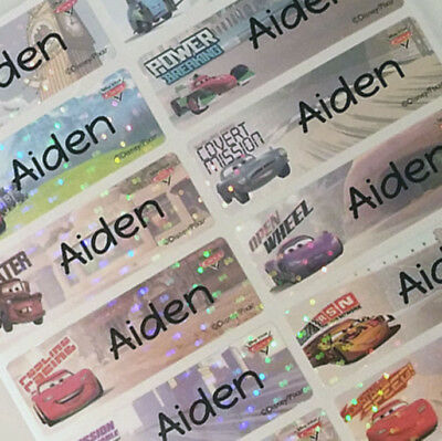 32 Disney Car 2 Character Personalized Waterproof Name Labels and Name Stickers