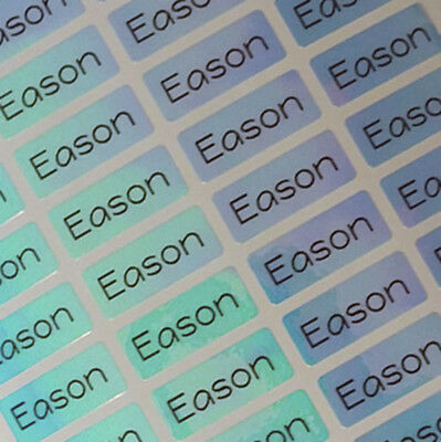88 Small BluePoly Personalized Waterproof Name Labels Name Stickers