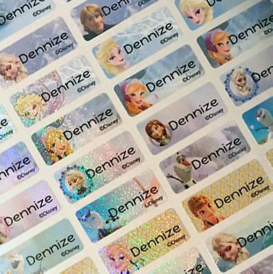 88 Small Disney Frozen Personalized Waterproof Name Labels Name Stickers
