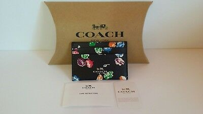 New with tags Coach Wildflower Card Case Rainbow / Multi - F65574  $65