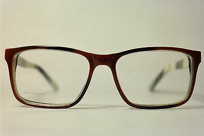 Frames & Cotton Witty 133 52[]17 140 Braun Weiss oval Brillengestell Brille NEU