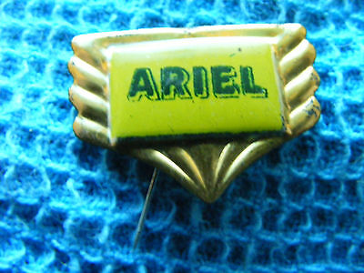 ARIEL  motorcycle very old lapel,hat pin badge(A)Tinplate/tin-litho.