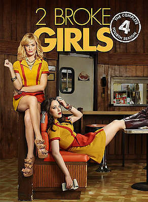 2 Broke Girls: The Complete Fourth Season 4 (DVD, 2015, 3-Disc Set) Brand New!