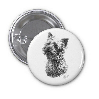 Licensed Mike Sibley High Spec Dog Print Pin Badge in 2 sizes
