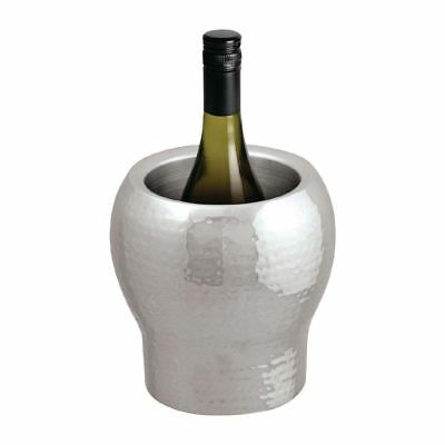 Beaumont Hammered Stainless Steel Wine And Champagne Cooler Bucket