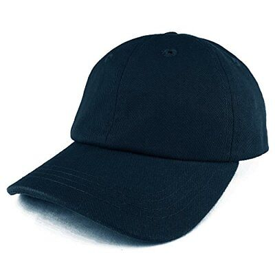 Baby Infant Plain Unstructured Adjustable Baseball Cap - NAVY
