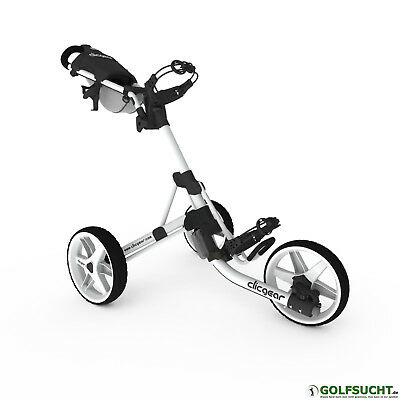 Clicgear 3.5+ artic/weiss - 3 Rad Golftrolley + kostenloses Wheelcover