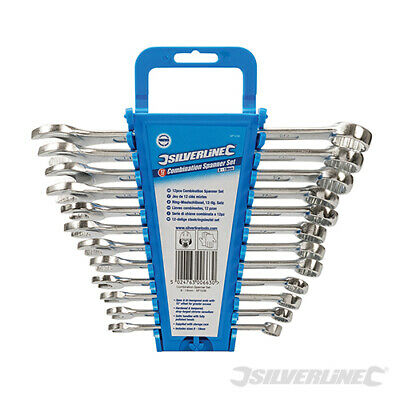 HEAVY DUTY SILVERLINE 12PC COMBINATION SPANNER WRENCH SET 8-19mm NEW