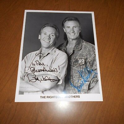 The Righteous Brothers is an American musical duo  Hand Signed Photo