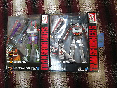 Y18_1 Transformers Lot COMBINER WARS G1 & ARMADA MEGATRON Leader Class Wave 1