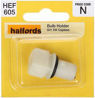 HALFORDS BULB HOLDER 501 5W Push And Twist Fit For Use With