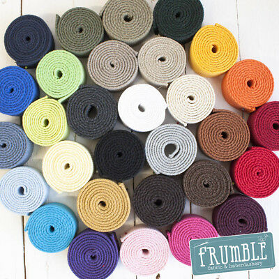 30mm Canvas Webbing 10m Roll -  Heavy Canvas Webbing Belting Bag Strap 2mm Thick