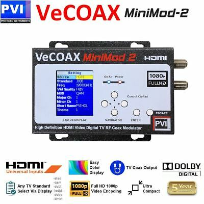 ProVideoInstruments VeCOAX MiniMOD-2 1080p Single Channel HDMI to RF Modulator