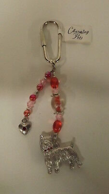 New Charming Pets Yorkie Yorkshire Terrier Dog Key Chain Metal and Beads 91010 M
