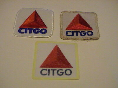 Lot /3 Citgo Gas Gasoline & Oil Service Station Automobile Auto Car Patches