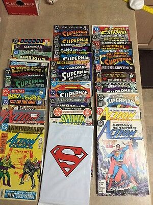 MARVEL DC COMIC BOOK LOT OF 37 Superman Assorted Comics