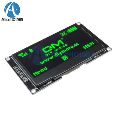 """2.42"""" inch Green OLED LCD Display SSD1309 128x64 SPI/IIC Serial Port for Arduino"""