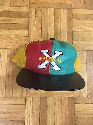 (Rare) Vintage 90's Malcolm X Leather Hat